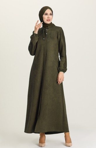 Khaki Abaya 5017-02