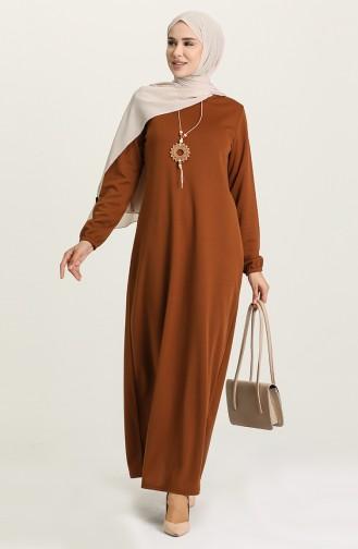 Tan Hijab Dress 8989-06