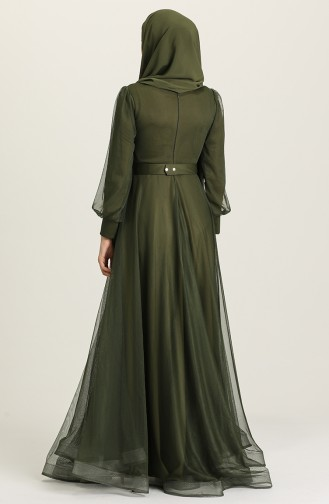 Khaki Hijab-Abendkleider 4949-07