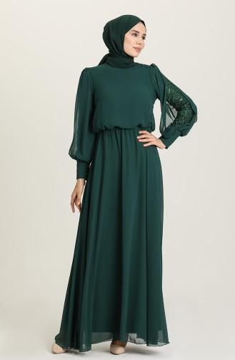 Emerald İslamitische Avondjurk 5403-01