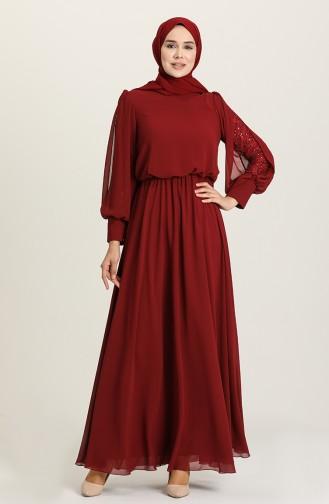 Habillé Hijab Bordeaux 5403-04