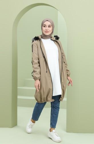 معطف بني مائل للرمادي 5006-01
