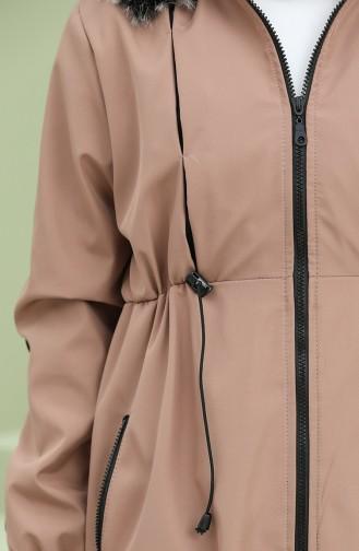 معطف بني باهت 5006-05