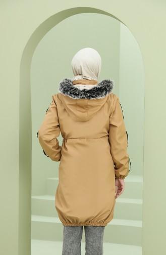 معطف أصفر خردل 5006-09