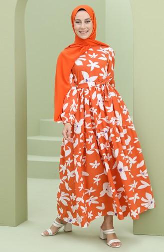 Orange İslamitische Jurk 5415-02