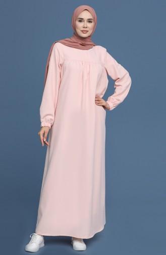 Powder Hijab Dress 22K3110-01