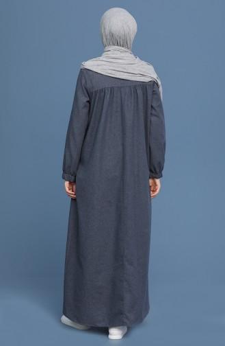 Gray İslamitische Jurk 22K3110-04