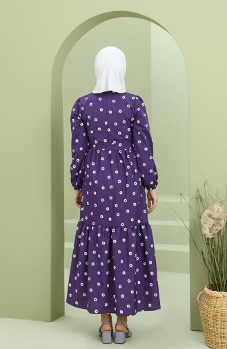 Robe Hijab Pourpre 2209-07