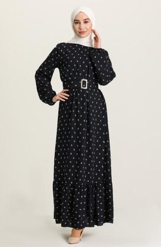 فستان أزرق داكن 2205-05