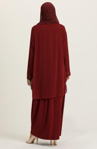 Habillé Hijab Bordeaux 5105-04