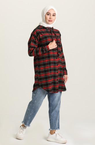 Red Overhemdblouse 22K8428-09