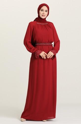 Habillé Hijab Bordeaux 61110-01