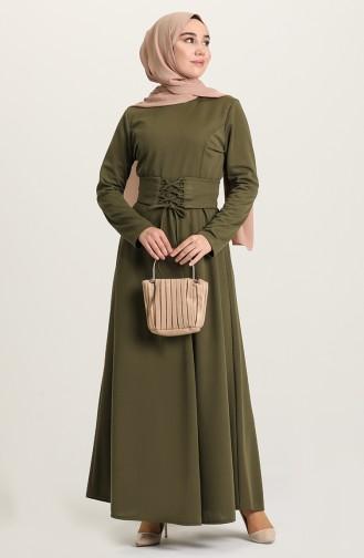 فستان كاكي 5018-06