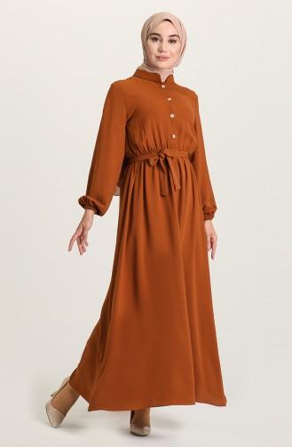 Tan Hijab Dress 5024-03