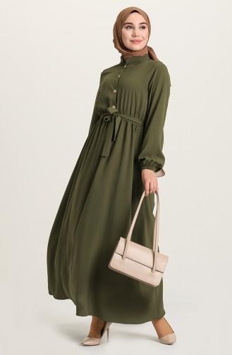 فستان كاكي 5024-05