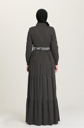 Schwarz Hijap Kleider 61304-02
