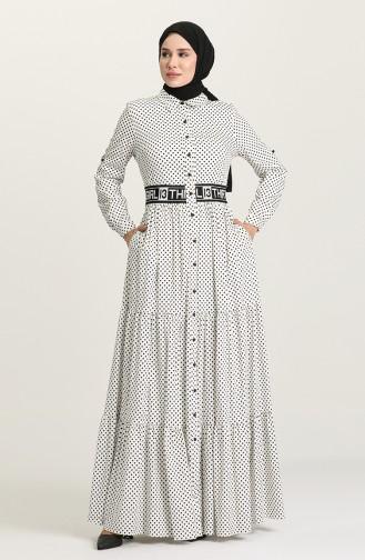 فستان أبيض 61304-03