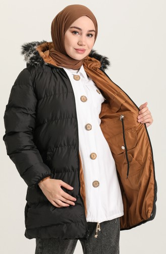 معطف أسود 7010-01