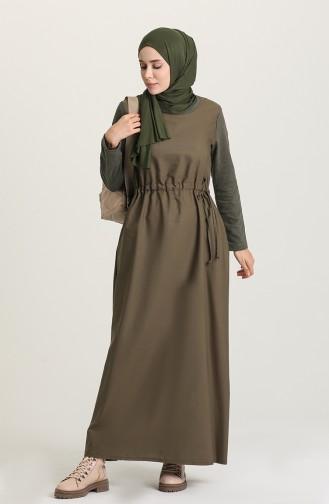 Robe Hijab Khaki 3305-03
