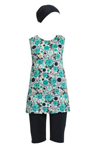 Turquoise Swimsuit Hijab 0170-01