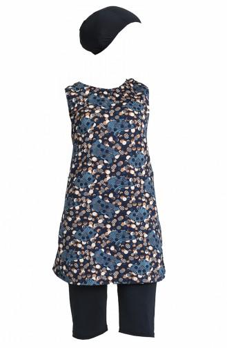 Navy Blue Swimsuit Hijab 0170-03