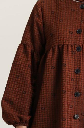 Brown Hijab Dress 22k8456-01