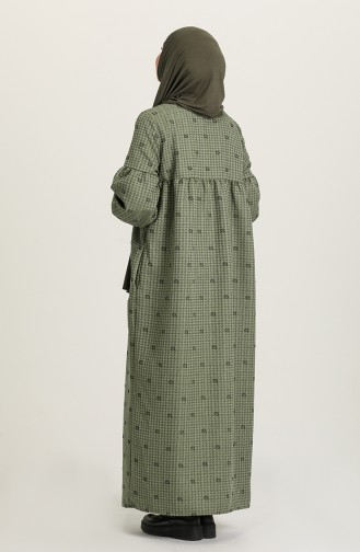 Green Hijab Dress 22k8456-02
