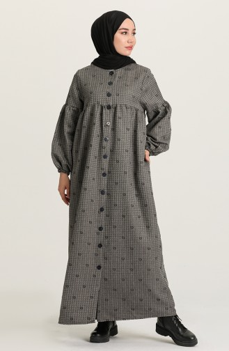 Gray İslamitische Jurk 22k8456-05