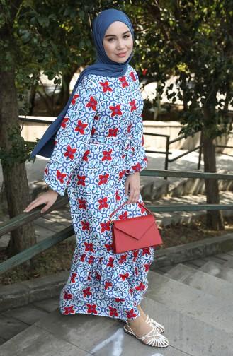 Red Hijab Dress 1148-01