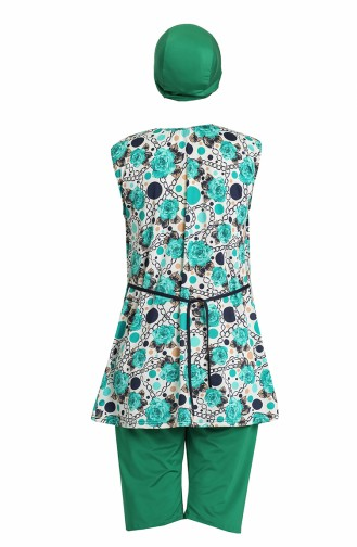 Maillot de Bain Hijab Turquoise 0171-01