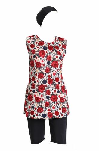 Claret Red Modest Swimwear 0171-02