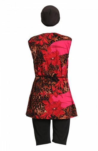 Rot Hijab Badeanzug 0171-03