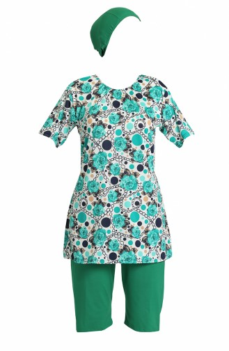 Turquoise Modest Swimwear 0172-01
