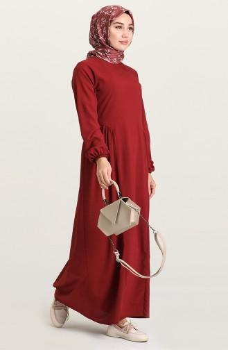 Robe Hijab Bordeaux 1677-02