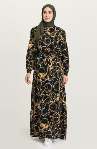 فستان كاكي 60220-01