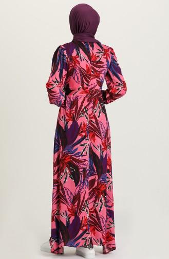فستان فوشيا 60231-01