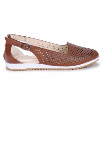 Chaussures de jour Tabac 21YBABAYK000057_TAB