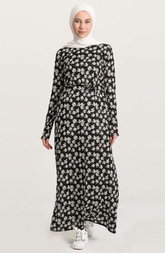 Robe Hijab Noir 1048-01
