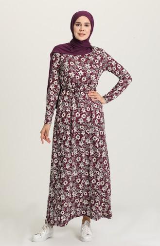 Robe Hijab Plum 1051-01