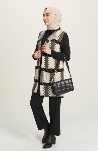 Khaki Waistcoats 4122-01