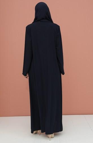 Navy Blue Abaya 4305-02