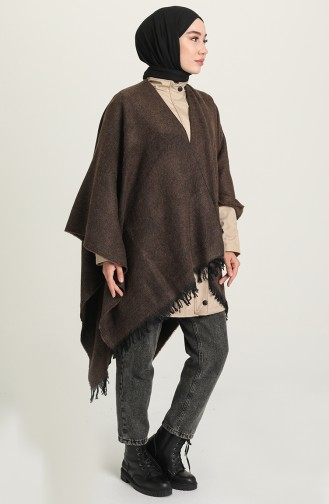 Dark Brown Poncho 1044-02