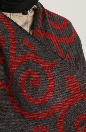 Selma Desen Panço 1045-01 Koyu Gri Kırmızı