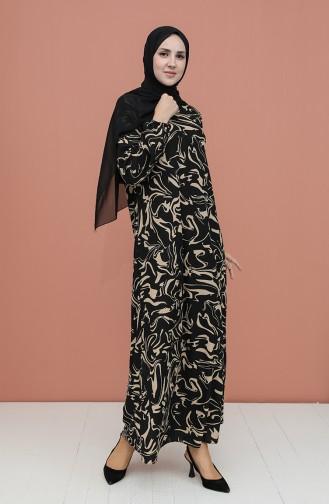 Robe Hijab Noir 5642B-04