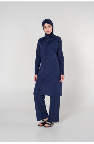 Maillot de Bain Hijab Bleu Marine 7001-01
