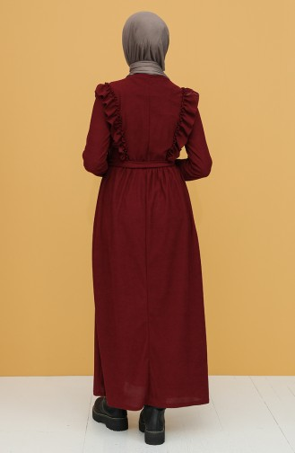 Robe Hijab Bordeaux 5433-01