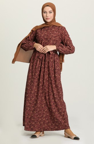 Dusty Rose Hijab Dress 22K8469-02