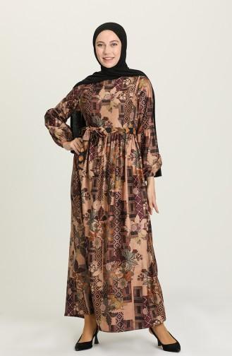Lilac İslamitische Jurk 22K8469A-01