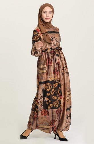 Robe Hijab Beige 22K8469A-04