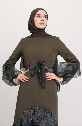 فستان كاكي 60120-07